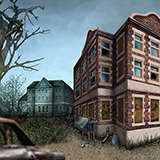 Screen_BG_School_Exterior Games by Snugbat Illustration