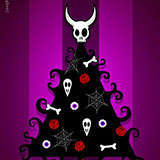 Gothic_Xmas_Tree Xmas by Snugbat Illustration
