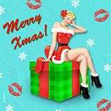 MERRY_XMAS_PINUP Xmas by Snugbat Illustration
